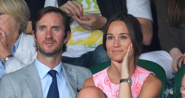 Pippa and her fiance, James Matthews. Photo / Getty