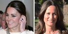 As Pippa reveals her engagement ring, experts compare it to her sister Kate's. Photo / Getty
