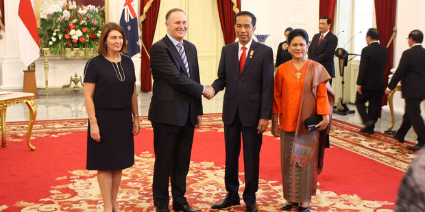 "Prime Minister John Key and Indonesian President Joko Widodo agreed to ""combat illegal, unreported and unregulated fishing. Photo / Isaac Davison"