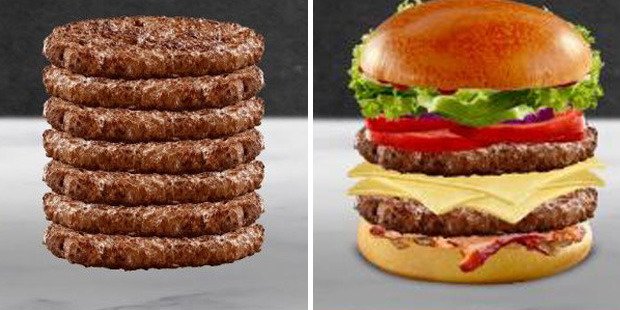 """Two burgers created on the site were labelled """"Girth"""" and """"Mosque At Groundzero"""". Photos / Reddit"""