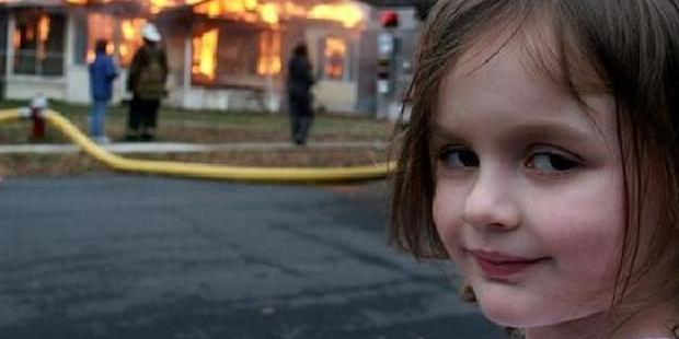 The famous photo of Zoe Roth, who was four years old at the time, taken by her father Dave.