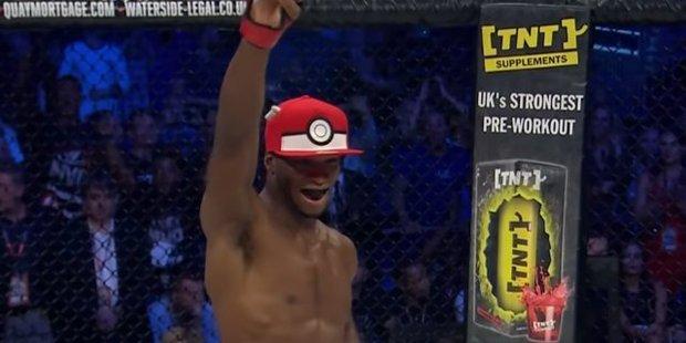 "MMA fighter Michael ""Venom"" Page celebrates in tribute to Pokemon. Photo / Twitter"