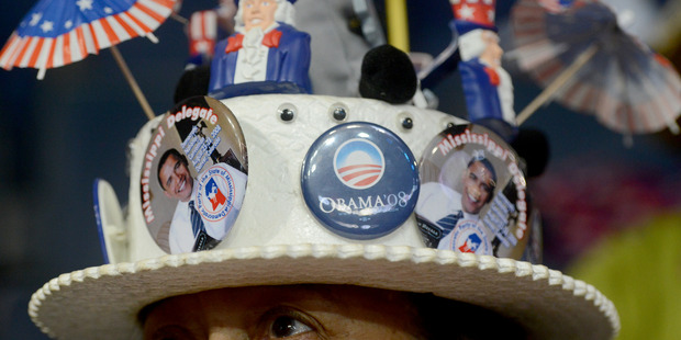 Mississippi Delegate Johnnie P. Patton and her decorated hat during the 2012 Democratic National Convention in Charlotte, North Carolina. Photo / Bonnie Jo Mount, Washington Post