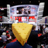 Barbara Finger from Oconto, Wis., wears a cheesehead hat during first day of the Republican National Convention in Cleveland, Monday, July 18, 2016. Photo/AP