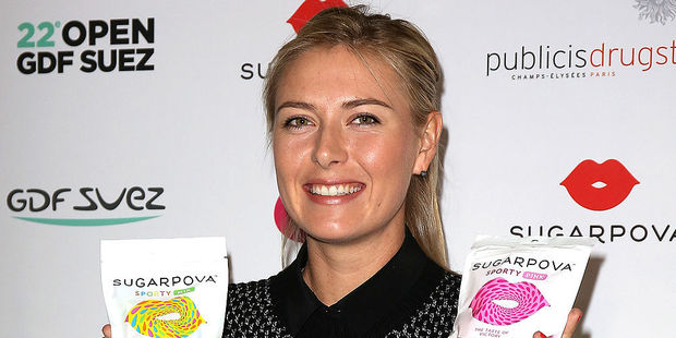 Banned tennis player Maria Sharapova is seeking to increase her business skills to help promote her Sugarpova brand of luxury candy. Photo / Getty Images