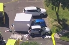 The scene of the shooting in Spalding, Lincolnshire. Photo/AP