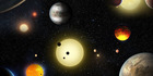 This artist's concept depicts select planetary discoveries made to date by NASA's Kepler space telescope. Photo / W. Stenzel, NASA, via Washington Post