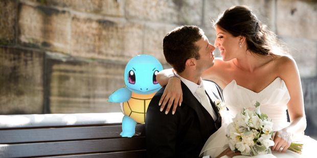 How would you react to Pokemon popping up at your wedding? Photo / Getty
