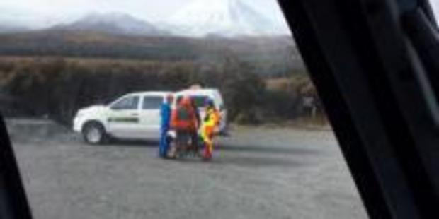Three people were rescued in Tongariro National Park today. Photo/supplied