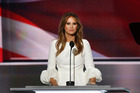 Melania Trump's speech may not have won praise, but her dress was well-received. Photo / Getty