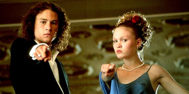 Heath Ledger and Julia Stiles star in the film 10 Things I Hate About You.