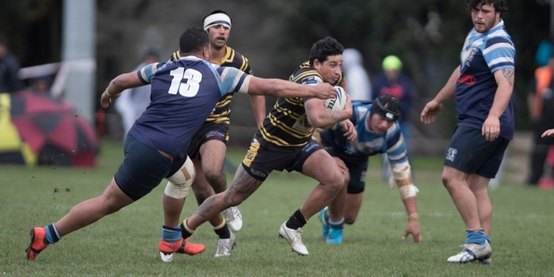 Former Kiwis fullback Kevin Locke donned a Northcote jersey for the first time in eight years to help his side in its bid to avoid relegation. Photo / Brett Phibbs