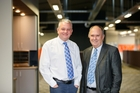 Scanpower chief executive Lee Bettles (left) with company chairman Allan Benbow.