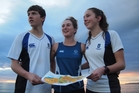 Will Tidswell, Carolyne Nel and Jenna Tidswell will represent New Zealand in the Southern Cross Challenge of orienteering from late September. Photo / Steve Armon