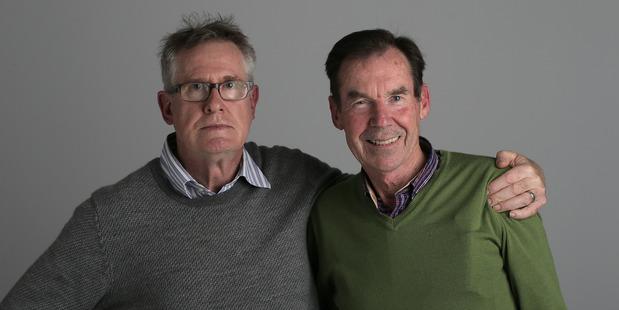Olympic legends Sir John Walker and Dick Quax. 27 July 2016 New Zealand Herald. Photo / Doug Sherring