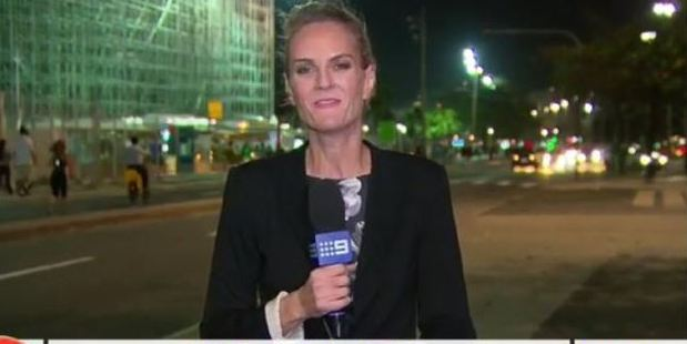 Reporter Christine Ahern appeared to talk about her attempted mugging. Photo / Channel 9