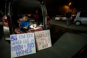 The Park Up for Homes protest  in Mangere was in support of homeless people. Picture / Jason Oxenham