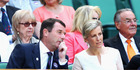 Phillip Brook and Sophie, The Countess of Wessex look on from the Royal Box on Centre Court on day ten of the Wimbledon Lawn Tennis Championships. Photo / Getty Images