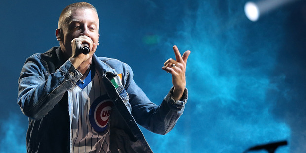 Macklemore's show was inundated with colour. Photo / Getty Images