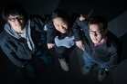 Duoyi Xu, Hayley Yu and Edwin Tsang are competing at Microsoft's Imagine Cup in Seattle. Photo / Greg Bowker