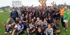 As the fan's sign says, Awanui claimed their fourth consecutive Bell Shield after dispatching Te Rarawa 46-5 in the Mangonui senior club rugby's grand final at Arnold Rae Park on Saturday.