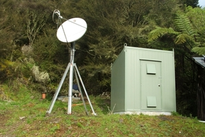 GeoNet's earthquake monitoring station at Omahuta, in the Far North.