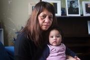Eden's mother Elizabeth holds her 5-month-old granddaughter, also Eden. Picture / Mike Scott