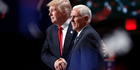 The Republican team of presidential candidate Donald Trump and running-mate Governor Mike Pence of Indiana. Photo / AP