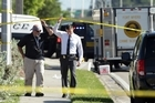 Officials investigate the scene of a deadly shooting outside of the Club Blu nightclub in Fort Myers, Florida. Photo/AP