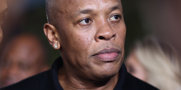 Rapper Dr Dre was handcuffed outside his home after a road rage incident. Photo/AP