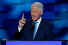 Former President Bill Clinton speaks during the second day of the Democratic National Convention in Philadelphia. Photo / AP