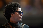 Musician and actor Lenny Kravitz conducts a sound check during the third day of the Democratic National Convention in Philadelphia. Photo / AP