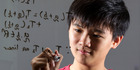 Tristan Pang is a teenage maths whiz who is taking papers at Auckland University. New Zealand Herald photograph by Jason Oxenham.