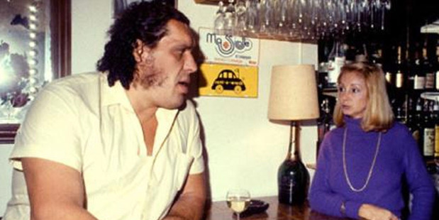 Loading Andre The Giant never met a bartender he didn't like. Photo / Twitter.