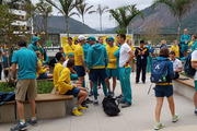 Australian athletes have had a scare in Rio de Janeiro after their building in the Olympic Games Village was evacuated due to a fire. Photo / Twitter.