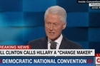 Source: CNN  White House hopeful Hillary Clinton's ex-Presidential husband gave an impassioned speech urging voters to elect his wife.