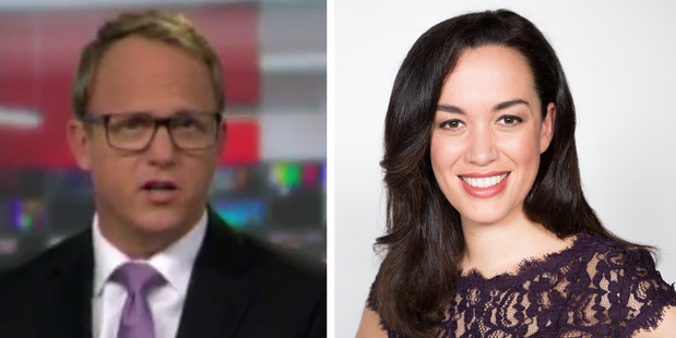 Loading Simon Shepherd gave Newshub weather presenter Kanoa Lloydan unexpected compliment on air. Photo / Supplied