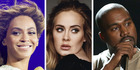 Beyonce, Adele, and Kanye West are all up for MTV Video Music Awards. Photo / AP