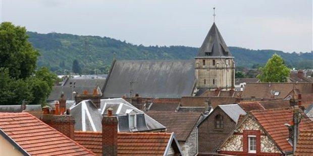 The church in Saint Etienne du Rouvray, Normandy, France. Photo / AP