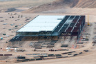 Construction at Tesla's gigafactory in Nevada, United States. Photo / Getty Images