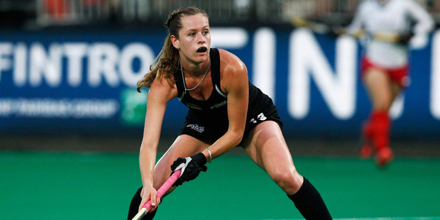 Samantha Charlton in action during the Fintro Hockey World League. Photo / Getty Images