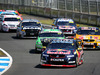 Jamie Whincup leads the field at Pukekohe in 2015. Photo / Getty Images