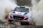 Hayden Paddon during the World Rally Championship Great Britain. Photo / Getty Images