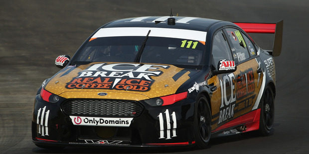 Chris Pither drives the #111 Super Black Racing Ford during a test day at Winton. Photo / Getty Images