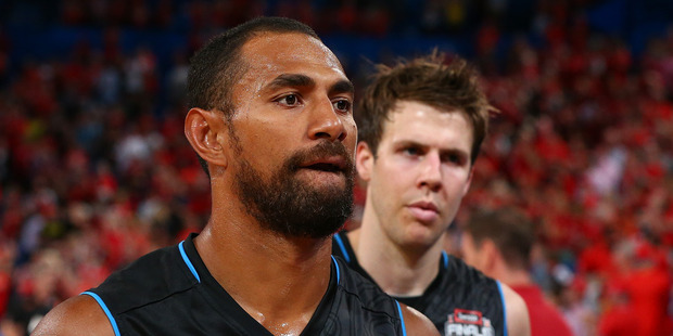 Mika Vukona during the NBL Grand Final. Photo / Getty Images