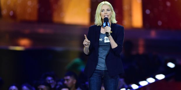 South Africa actress Charlize Theron says truth is the only way to battle AIDS. Photo / Getty Images