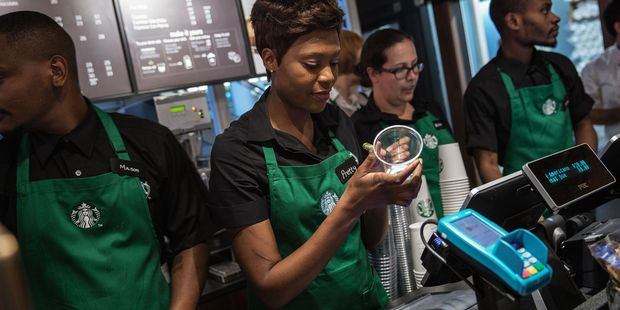 "Starbucks' new uniform rules would allow for more ""self-expression.""Photo / Getty Images"