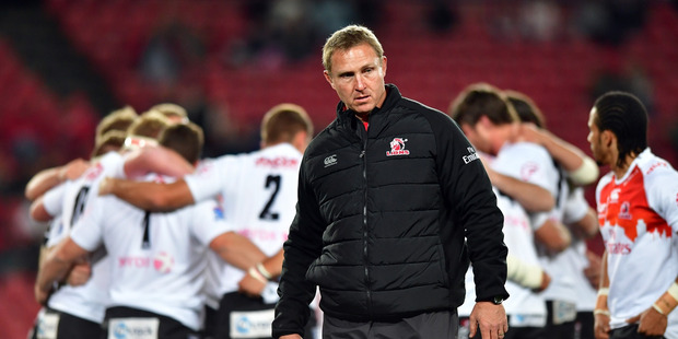 Lions coach Johan Ackermann has led his team all the way to a home semi-final and will be honored if his team get the chance to contest the title. Photo / Getty