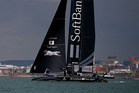 Team Softbank Japan during the Louis Vuitton America's Cup World Series in Portsmouth. Photo / Getty Images