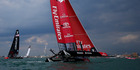 Team New Zealand during the Louis Vuitton America's Cup World Series in Portsmouth. Photo / Getty Images